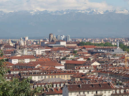 View of the city of Turin, Torino from the hill photo