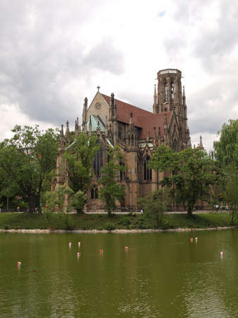 The Johanneskirche gothic church in Stuttgart, Germany photo