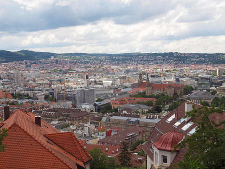 View of the city of Stuttgart in Germany photo