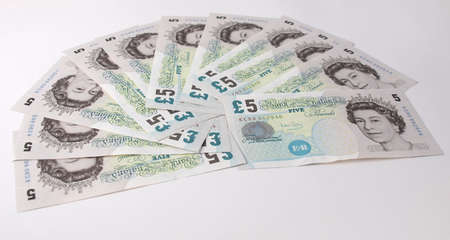 Pound banknote (currency of the United Kingdom) photo