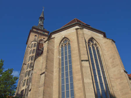 Stiftskirche Church in Schillerplatz, Stuttgart, Germany photo
