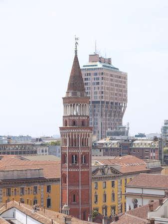Vista della citt� di Milano, Milano in Italia photo