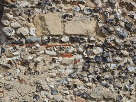 flint: Old wall made of flint stones from Kent UK Stock Photo