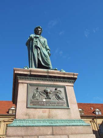 Monument to the poet Schiller in Stuttgart, Germany Stock Photo - 15402259