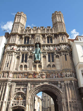 canterbury: St Augustine Gate in Canterbury England UK