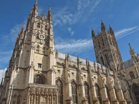canterbury: The Canterbury Cathedral in Kent England UK Stock Photo