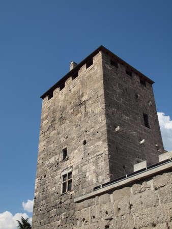 aosta: Porta Praetoria in the Roman town of Augusta Praetoria Salassorum now Aosta
