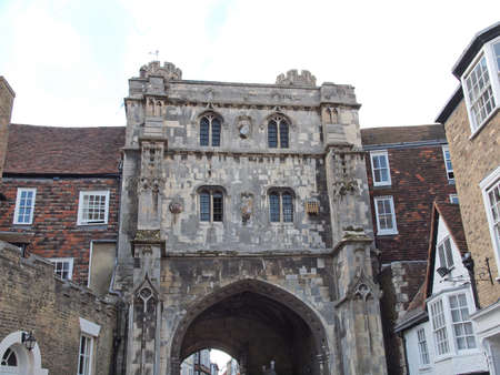 augustine: St Augustine Gate in Canterbury England UK