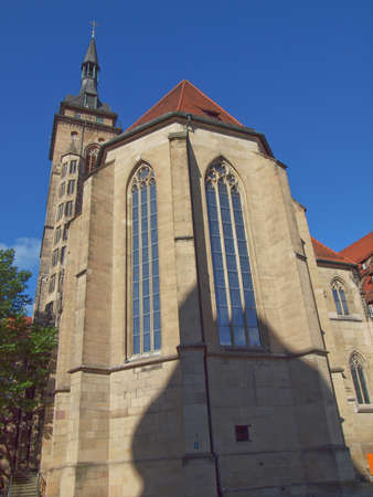 Stiftskirche Church in Schillerplatz, Stuttgart, Germany Stock Photo - 15707730