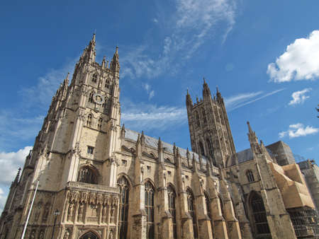canterbury: The Canterbury Cathedral in Kent England UK Editorial