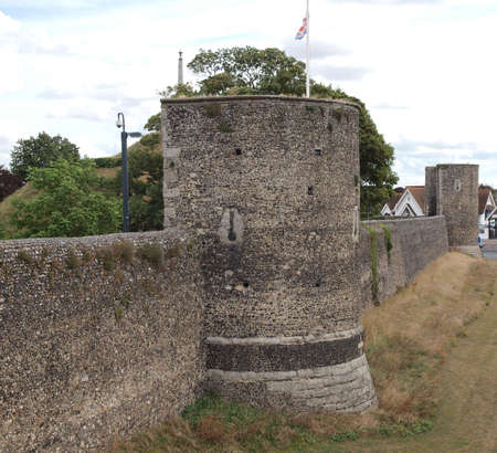 canterbury: The walls of the City of Canterbury in Kent England UK