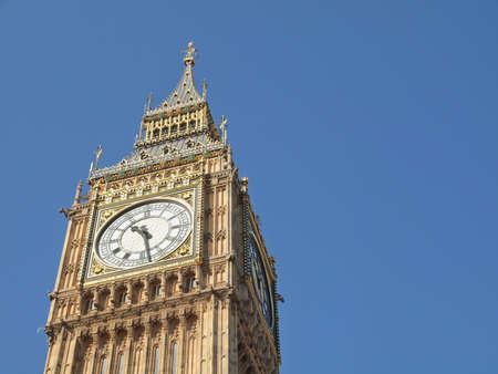 Big Ben Houses of Parliament Westminster Palace London gotische Architektur