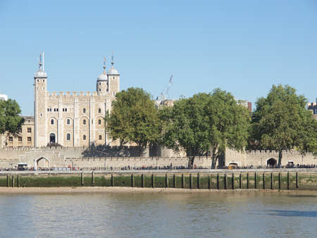 The Tower of London medieval castle and prison