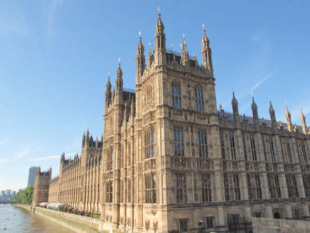 Houses of Parliament Westminster Palace London gothic architecture Stock Photo - 16970316