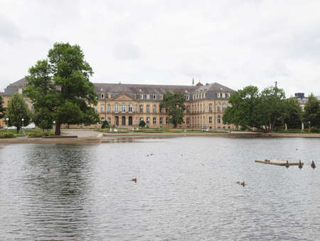 stuttgart: The Oberer Schlossgarten park in Stuttgart, Germany Editorial