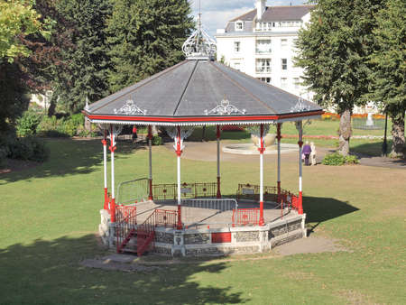 bandstand: Bandstand for playing music in public park in Canterbury Kent UK Stock Photo