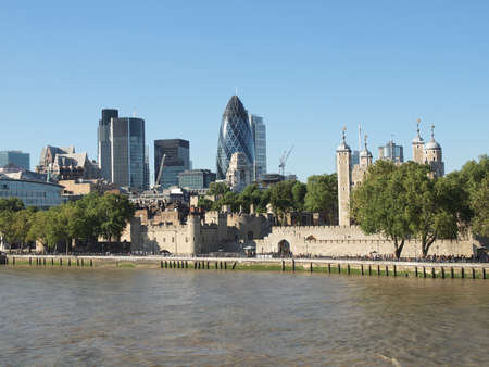 The Tower of London medieval castle and prison Stock Photo - 17202313