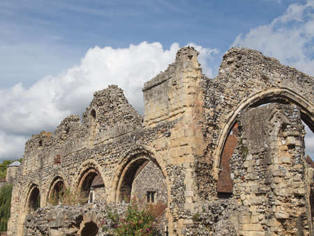 canterbury: Ruins of St Augustine Abbey in Canterbury UK