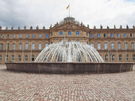 Neues Schloss (New Castle) in Stuttgart, Germany Stock Photo - 17202289