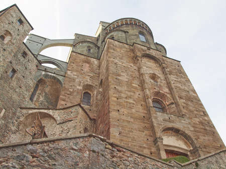 Sacra di San Michele (Saint Michael Abbey) on Mount Pirchiriano in St Ambrogio Italy Stock Photo - 17432044