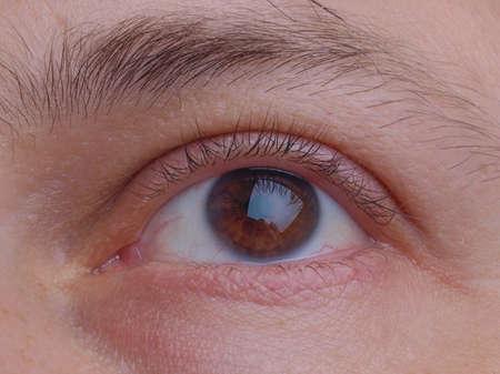 parpados: Cerrar detalles de una pupila de los ojos y p?rpados