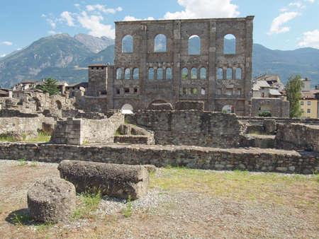 Le rovine del Teatro Romano di Aosta Italia