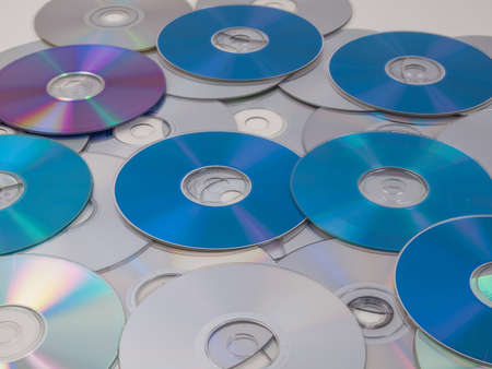blu: CD, DVD, BD (Bluray) optical discs for music, video and data storage