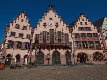 roemer: Frankfurt city hall aka Rathaus Roemer Germany Editorial