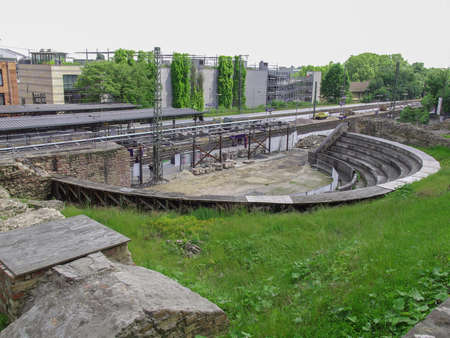 mainz: Ruins of the Roemisches Theater roman theatre in Mainz Germany Stock Photo