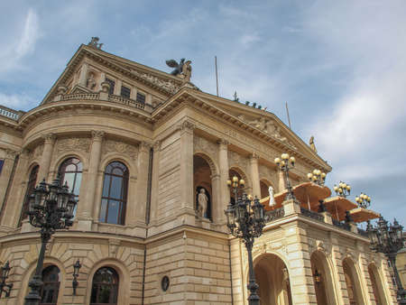 Alte Oper Old Opera House in Frankfurt am Main Germany 스톡 콘텐츠