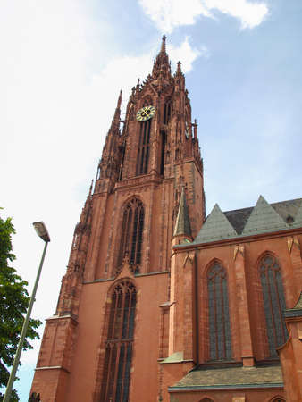 roemerberg: St Bartholomaus Frankfurter Dom Cathedral in Roemerberg Frankfurt am Main Germany Stock Photo