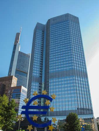 프랑크푸르트에있는 유럽 중앙 은행 주 독일입니다 스톡 콘텐츠 - 20342548