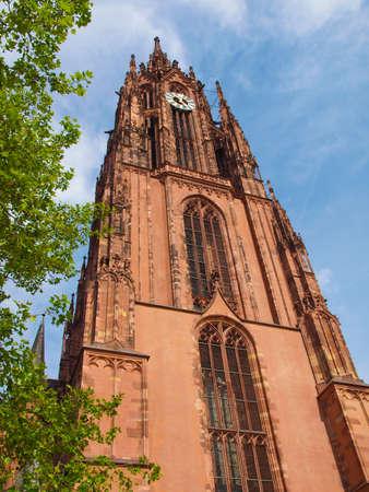 dom: St Bartholomaus Frankfurter Dom Cathedral ?oemerberg Frankfurt am Main Allemagne Banque d'images