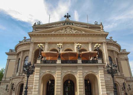 alte: Alte Oper Old Opera House in Frankfurt am Main Germany Editorial