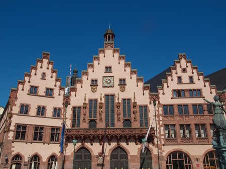 rathaus: Frankfurt city hall aka Rathaus Roemer Germany Stock Photo