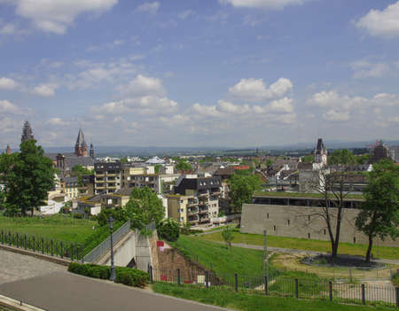 mainz: View of the city of Mainz in Germany