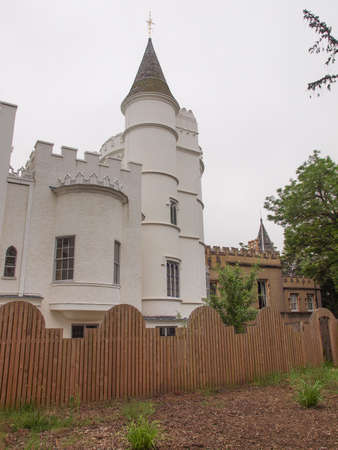 horace: Horace Walpole Strawberry Hill gothic villa built in London Twickenham in 1749 Editorial