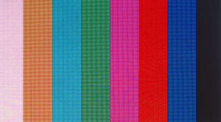 Colour bars television test pattern on a screen photo