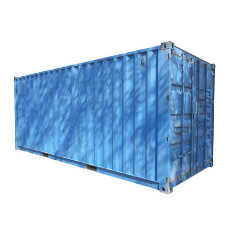 Shipping container used for cargo freight delivery by ship aircraft train truck photo