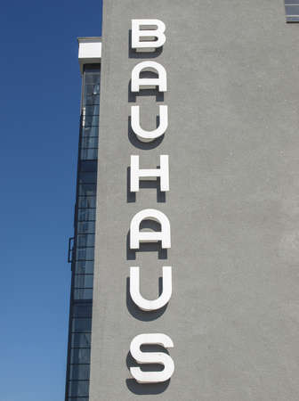 rationalist: DESSAU, GERMANY - AUGUST 6: The Bauhaus building masterpiece of modern architecture  on August 6, 2009 in Dessau, Germany