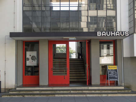 bauhaus: DESSAU, GERMANY - AUGUST 6: The Bauhaus building masterpiece of modern architecture  on August 6, 2009 in Dessau, Germany