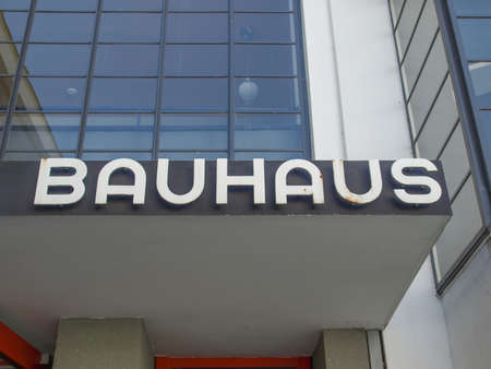bauhaus: DESSAU, GERMANY - AUGUST 6: The Bauhaus building masterpiece of modern architecture on August 6, 2009 in Dessau, Germany Editorial