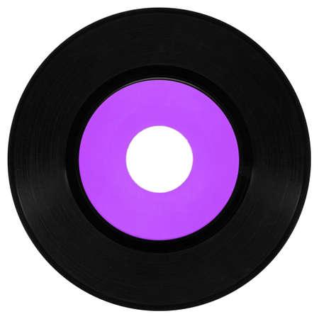 Vinyl record vintage analog music recording medium Stock Photo