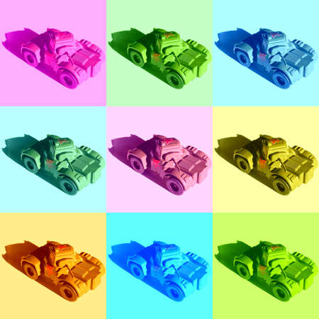 Russian tanks illustration in pop art style Reklamní fotografie