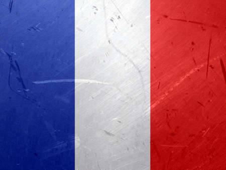 francaise: Grunge illustration of the flag of France