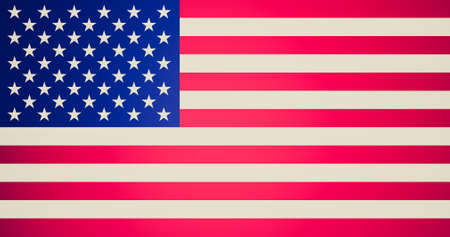 Vintage looking American flag of the United States of America photo