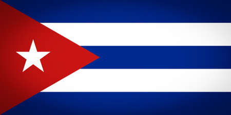 vignetted: Cuban flag of Cuba - Proportions: 2:1 - Colours: Red, White, Blue vignetted