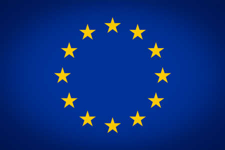 vignetted: Flag of the European Union - Proportions: 1.5:1 - Colours: Reflex Blue, Yellow vignetted