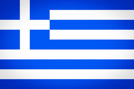 vignetted: Greek flag of Greece - Proportions: 3:2 - Colours: Blue, White vignetted