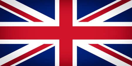 drapeau angleterre: Drapeau officiel britannique du Royaume-Uni aka Union Jack - Proportions: 2:1 - Couleur: Bleu 280 C, 186 C Red, White Safe vignett� Banque d'images